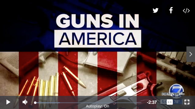 News story about Guns in America featuring Attorney Doug Richards.